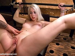 19 year old blond cutie gets fucked every which way but loose in this sexy hard core update. With flogging, slapping,fucking and squirting!