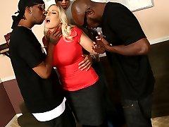 Black Cock Slut, Angel Allwood gets Hammered at Blacks On Blondes!