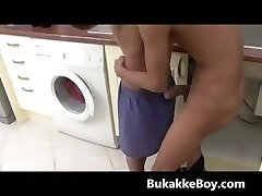 Two hot twinks having sex in kitchen part5