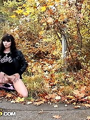 Sexy teenage minx likes shagging in the outdoors - publicsexadventures.com