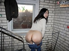 Asian amateur in hot public anal fucking