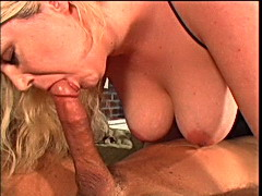 Black cock deep in her hairy pussy