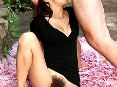 Slutty lady Leslie gives her stud a sinful blowjob and later rides his cock with her natural...