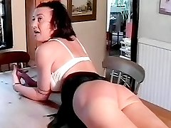Sultry naughty momma gets her nice ass spanked
