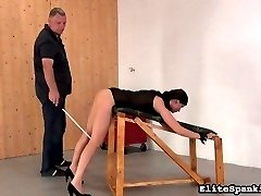Yet again, Ines has to be disciplined. It seems our spankings have no effect on his dark haired...
