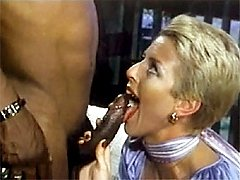 Retro aunt Peg interracial