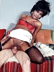 Black chick in textured black nylons gets shagged good!