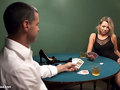 Beautiful Zoey Monroe looses her dress in a card game, and has to pay off the rest of her debt in sexual favors. Right from the start Zoey exposes herself as a serial squirter when she leaves puddles in every scene. Her tiny pussy gets vibrated and fucked in all the positions, and she just keeps on squirming and squirting all over the place.