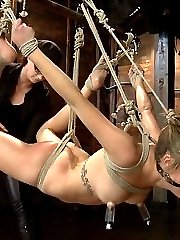 Hot and sexy bondage newbie Lia Lor gets put to the test in a super hot HogTied update. In scene...