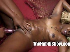 Sweet carmel babe gets pussy split by black monster dick