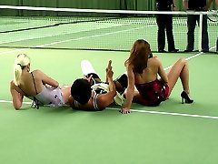 Horny tennis match