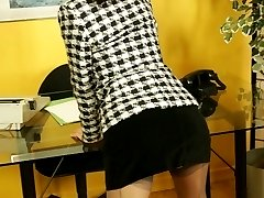 Striptease secretary