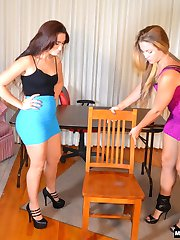 Madison Spanks Her Cousin Mandy Muse Again