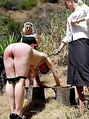 Welted with the riding crop - outdoor punishments - severe swats - deep stripes