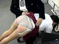 School girl thief gets humiliating bare bottom punishment from strict police woman