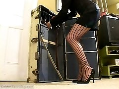 Student girl caned by the Mistress