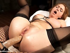 Krissy Lynn returns to Whipped Ass in this sexy role play fantasy. Krissy plays a snobby art curator who\'s sent to an abandon warehouse as a potential spot to hold an art show. There she finds the tough and sexy Lea Lexis, a Romanian squatter using the warehouse as a place to sleep. Lea isn\'t amused at the rich bitch invading her turf and uses the opportunity to have a little fun Whipped Ass Style! Krissy is flogged, paddled and spanked, fucked deep in her ass and is made to lick pussy. She\'s bound wide open with pussy clamps and made to cum against her will! Lea Lexis\'s evil but seductive dialog torments Krissy throughout!