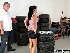 Oh dear Katty. When will this beauty learn her lesson. Her spanking addiction keeps her coming...