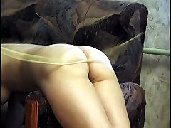 Lustful lesbians in filty sex acts stripped restrained and caned on their curvy young buttocks