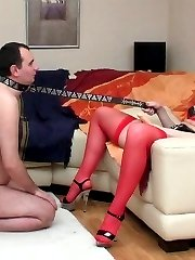 Sizzling hot chick can�t hide her rubber present for sex-addicted boyfriend