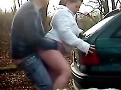 couple enjoy outdoor dogging sex