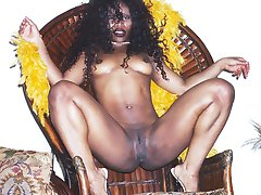 Patra is a wild sexy black woman. Cum see her naughty strip tease right in the middle of the...