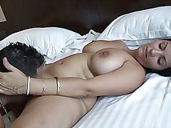Huge naturals tits gets pussy fucked