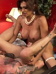 When Will Havoc dreams of the perfect woman there is no woman more exotic and beautiful than Jessy Dubai and her raging hard cock! In his fantasy she arrives in his room just like a gorgeous Barbie doll except this Barbie has a hungry cock! Jessy fucks the daylights out of Will Havoc, they rub their hard cocks together and Will explodes with a huge load of cum. Jessy flips him over and cream pies in his asshole then slides her cock back inside pushing her cum deep in his ass! Don't miss this hot cream pie update!
