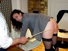 Severe paddlings and canings for naughty young girls