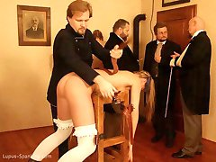 Long and severe Group Caning at Lupus Spanking