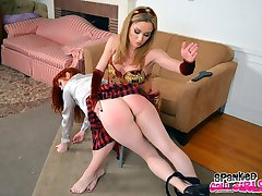 Angela Sommers Belly Dancing Spanking