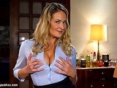 Sexy MILF, Elexis Monroe gets a taste of her own medicine when she's invited to her employee Sinn Sage's house to play strip poker with her and her girlfriend Gia Dimarco. Elexis gets her ass handed to her in poker and before she knows it she's butt naked and tipsy. Sinn and Gia take advantage of this and dominate Elexis with spanking, bondage, nipple and tit torture, flogging  and making her lick pussy and ass while being smothered. Elexis is strap-on fucked by both girls until she's begging for more orgasms. It's safe to say things will be different at the office on Monday morning!
