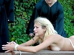 Blonde coed not too old for corporal punishment