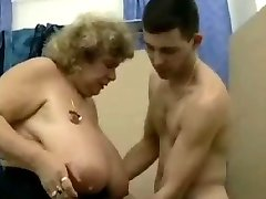 Big tit German granny