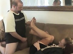 Real Estaye Agent Nylon Footjob
