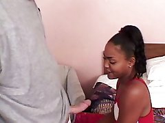 Black chick banged and spermed