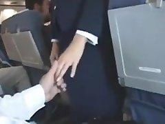 Air Blowjob stewardess