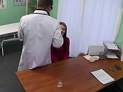Pale amateur fucked by her doctor in hospital