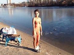 Winter beach. Kiev