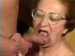 Nasty granny is dying for a proper fuck and she finally gets it