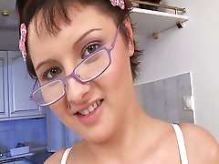Girl with glasses wants some cock