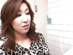 Hot Japanese toilet blowjob