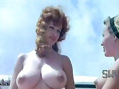 Vintage nudist camp scene