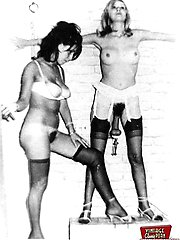 A vintage spanking session