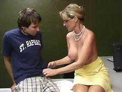 Teacher Milks a Student Hugh Cumshot WF