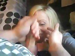 Brit Chick Sucks And Enjoys A Facial !