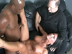 Milf fucked by BBC in front of Hubby