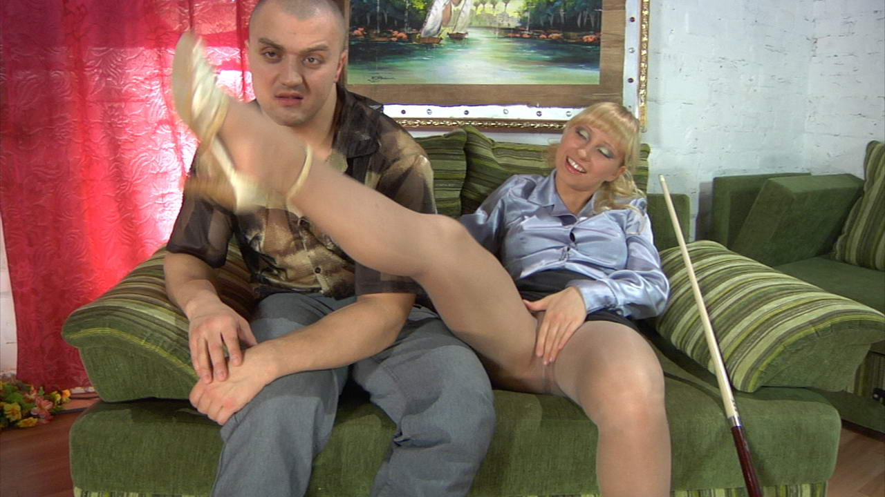 Blondes Screwing pantyhose clad blonde teasing a hung stud itching for raw