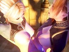 Medieval futanari 3D hentai girls HD