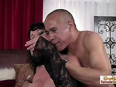 Chubby brunette MILF can&039;t get enough cock